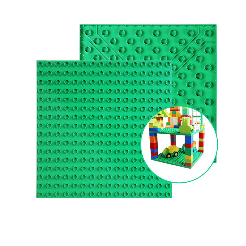 2pcs Double-sided Base Plate Compatible LegoINGly Duploed Toys Big Dots Figures Baseplate DIY Building Block Toys For Children