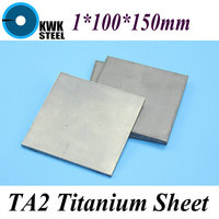 1 100 150mm Titanium Sheet UNS Gr1 TA2 Pure Titanium Ti Plate Industry Or DIY Material