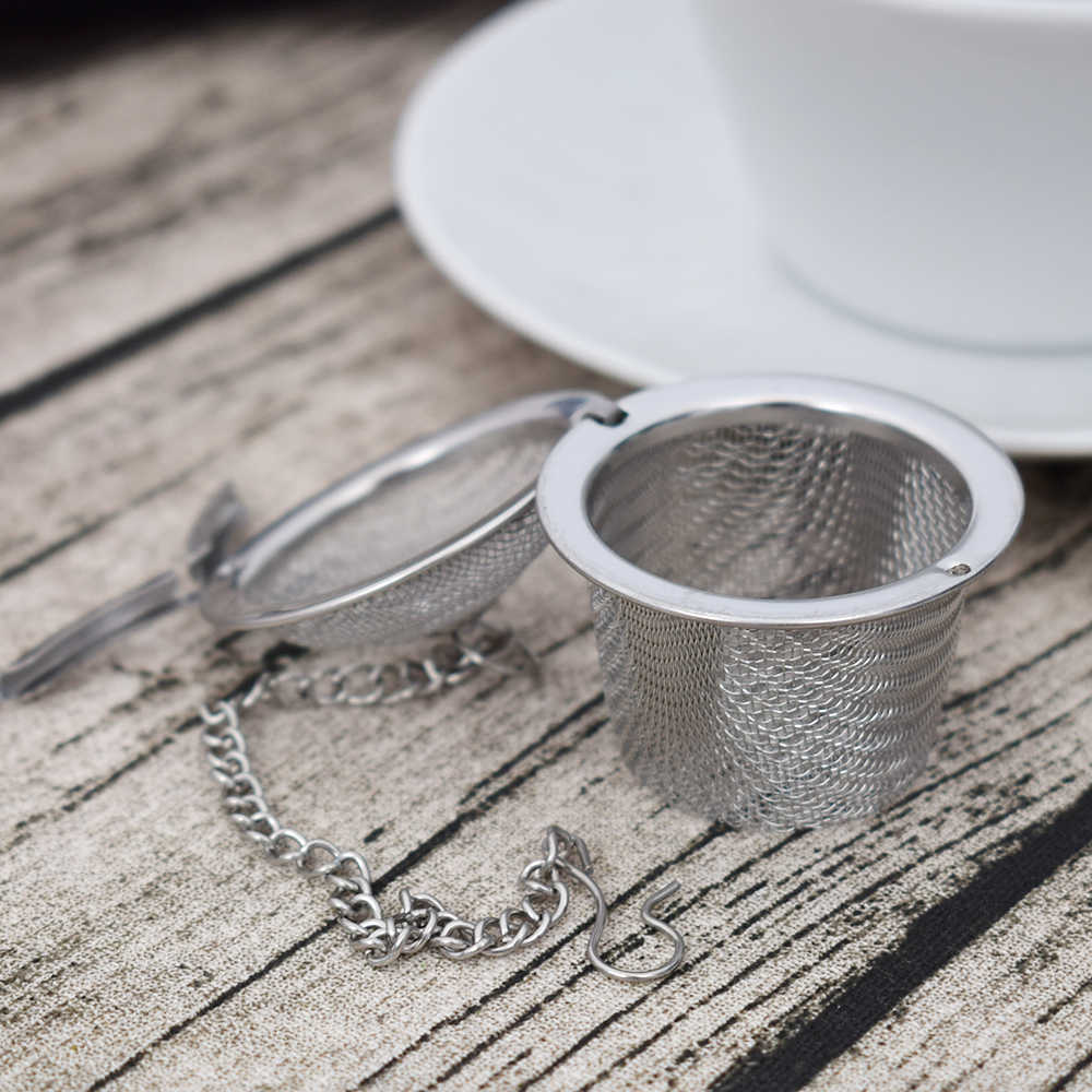 1Pc Stainless Steel Infuser Strainer Mesh Tea Filter Spoon Locking Spice Ball
