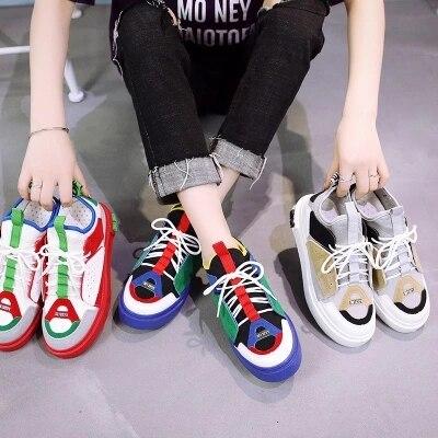 Vieux 1 3 5 2 Harajuku Rouge Toile Respirant 2018 6 De Été Nouveau Chaussures Sauvage Coréens Femmes 4 qtnnOa7g