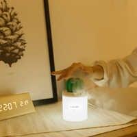 280 ml USB Cactus humidificateur ultrasons chronométrage brumisateur muet Fine brume Mini atomiseur avec LED veilleuse créative pour la maison