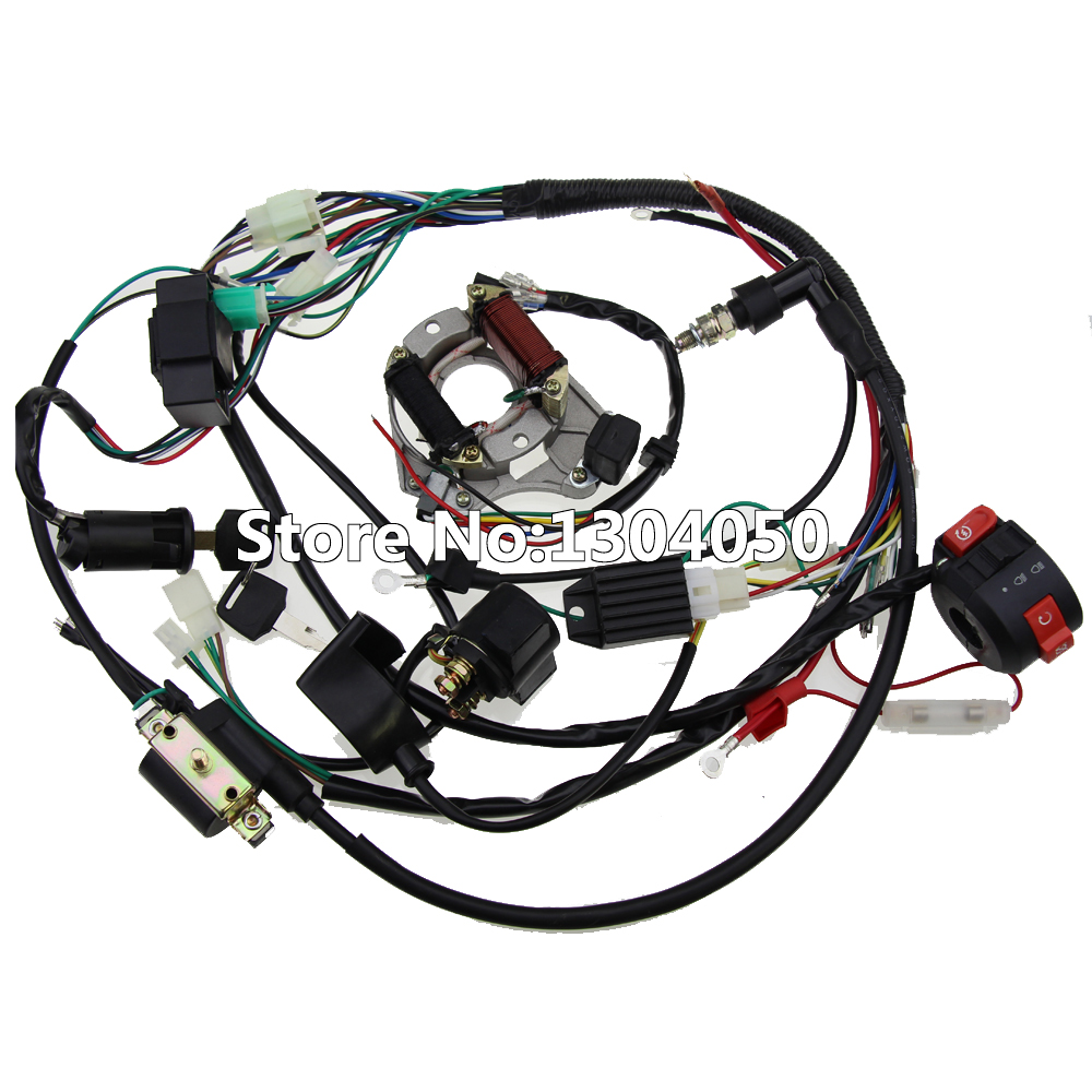 popular atv wiring harness buy cheap atv wiring harness lots from full electrics wiring harness cdi coil 110cc 125cc atv quad bike buggy gokart