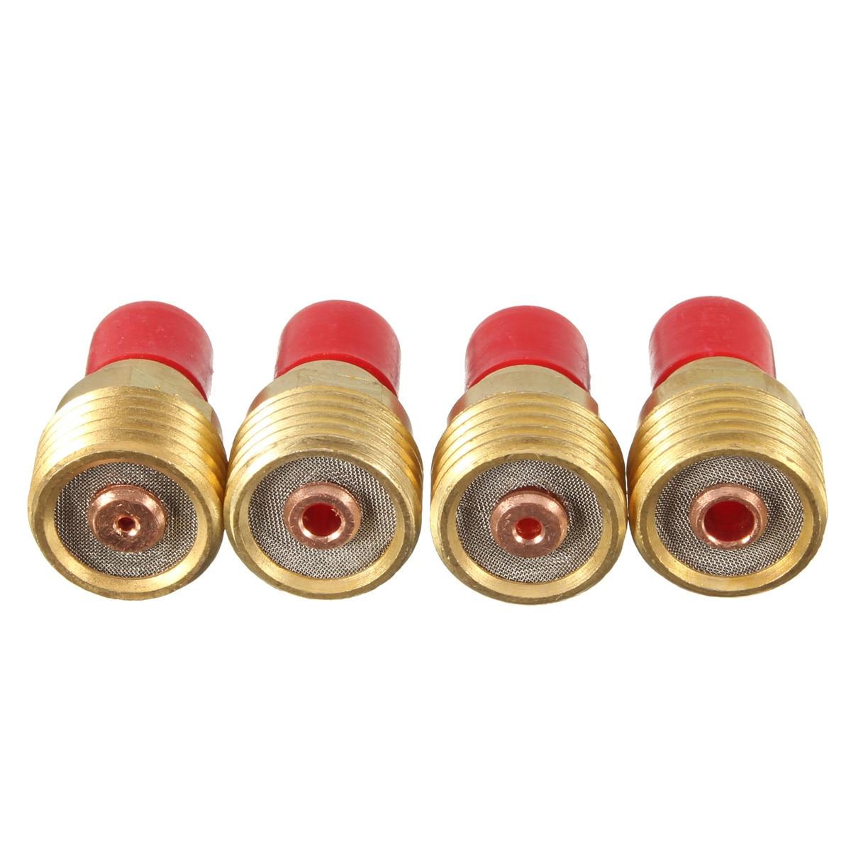 46Pcs TIG Gas Lens Collet Body KIT Back Cap For TIG Welding Torch SR WP9 20