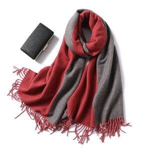 Image 1 - 2020 Ontwerp Merk Vrouwen Sjaal Mode Winter Kasjmier Sjaals Lady Sjaals Wraps Dikke Warme Zachte Bandana Vrouwelijke Foulard Deken