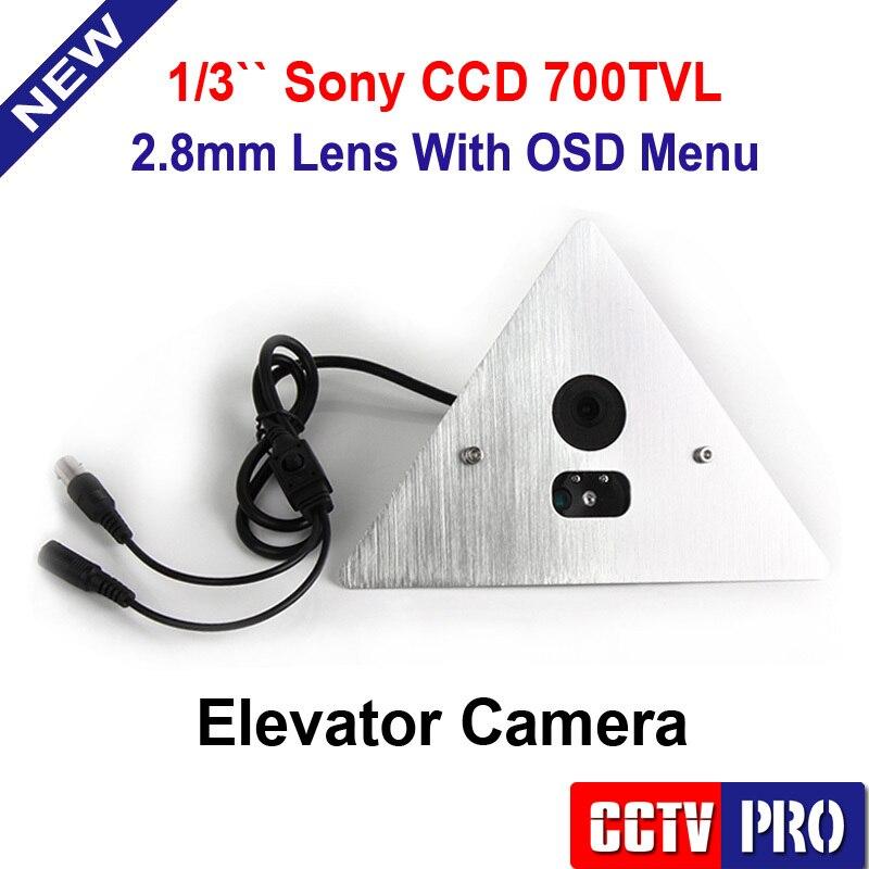 1 3 SONY EFFIO V DSP WDR CCD 700TVL Corner Elevator font b Camera b font