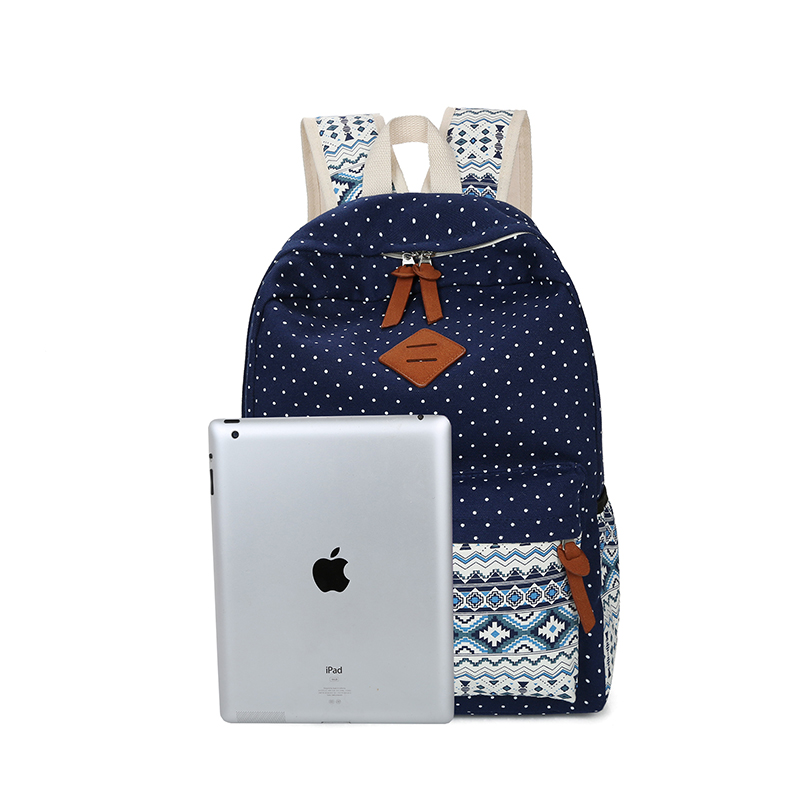 c4fc293507 3 Sets Canvas Backpack Fashion Teenager Student Backpacks School Bags Girls  Boy Book Bag High Quality Double Shoulder Rucksack-in Backpacks from  Luggage ...