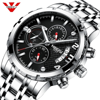 f8aef7abf90b Reloj NIBOSI reloj hombre 2019 relojes para Hombre marca superior Reloj  deportivo cronógrafo de lujo Reloj militar resistente al agua Reloj  Masculino