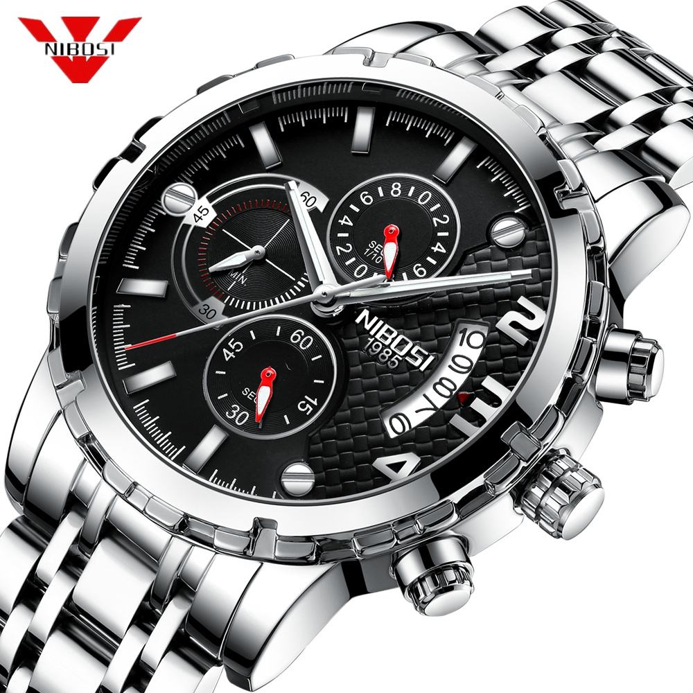 Reloj NIBOSI Reloj Hombre 2018 relojes para Hombre marca superior Reloj deportivo cronógrafo de lujo Reloj militar resistente al agua Reloj Masculino