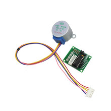 Eletrônica inteligente 28byj-48 5 v 4 fase dc engrenagem stepper motor + uln2003 placa de motorista para arduino kit diy(China)