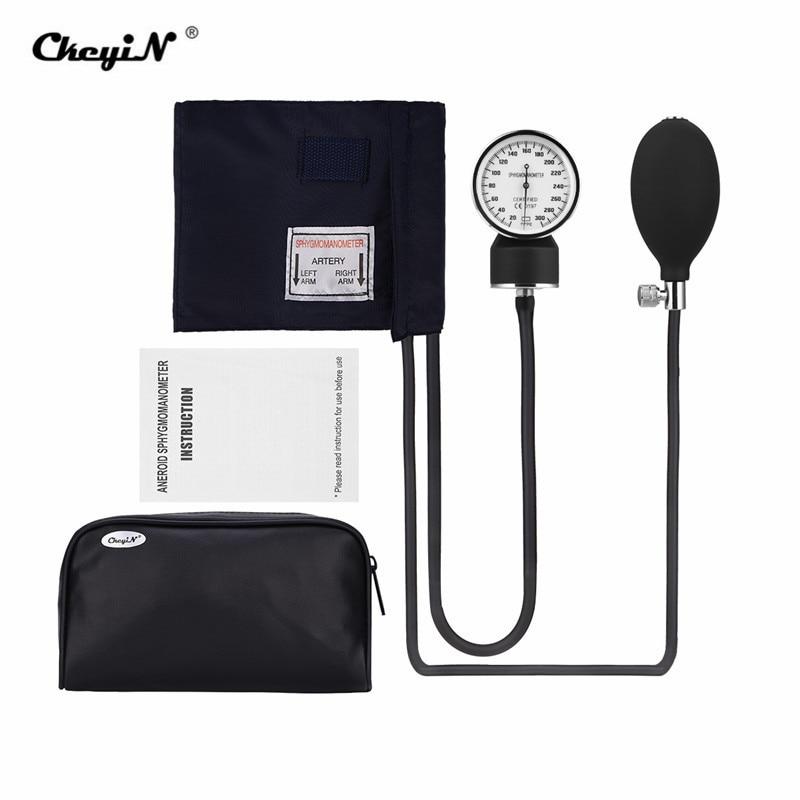 Manual Blood Pressure Monitor Cuff High Precision Aneroid Sphygmomanometer Upper Arm Blood Pressure Meter Kit + Storage Bag 35