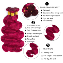 Body Wave Indian Hair Bundles With Closure Pre-Colored #Bug Human Hair Bundles With Closure Remy Hair Extensions
