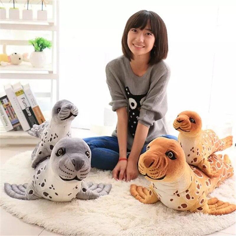 Мир плюшевые Море собака печать чучело игрушки куклы детские мягкие Куклы Подушки Детские Подушки игрушка в подарок для детей на день рожде...
