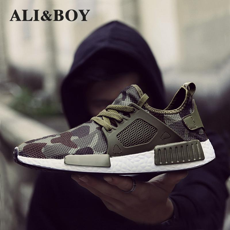 Outdoor Military Camouflage Sports Men Running Shoes 2017 Summer Krasovki Army Green Trainers Ultra Boosts Sneakers Walking Shoe 2017brand sport mesh men running shoes athletic sneakers air breath increased within zapatillas deportivas trainers couple shoes