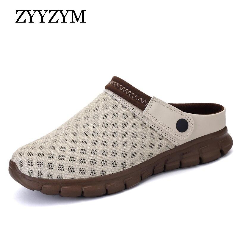 ZYYZYM Men Sandals 2018 New Summer Unisex Style Fashion Light Empty Casual Beach Shoes Large size