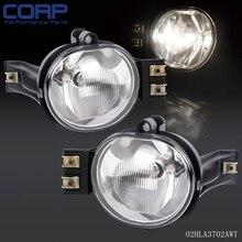 For 2002-2009 Dodge Ram Durango Chrome Clear Lens Bumper Driving Fog Light Lamps