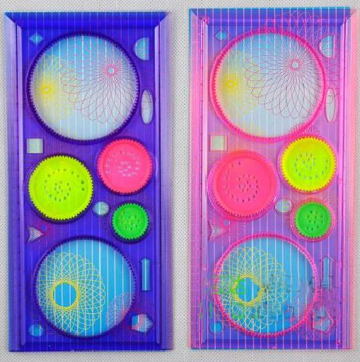 New Spiral Art Tool Spirograph Ruler Funny Gift Creative Drawing Set Toy Rulers Newsest