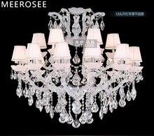 Классическая люстра светильник большой кристалл Люстры Освещение кристалл лампы для ресторана фойе проекта Мария-Терезия светильник