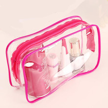 PVC Clear Women Makeup Cosmetic Bag Waterproof Transparent Make Up Organizer Storage Wash Travel Toiletry Accessories Supplies
