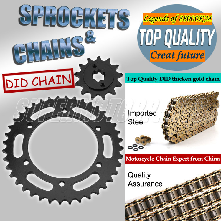 1 Set Front and Rear Sprocket Chain & chain For Honda VFR400 RVF400 MC30 NC30 Motorcycle Accessories sprocket chain 1 set front and rear sprocket chain