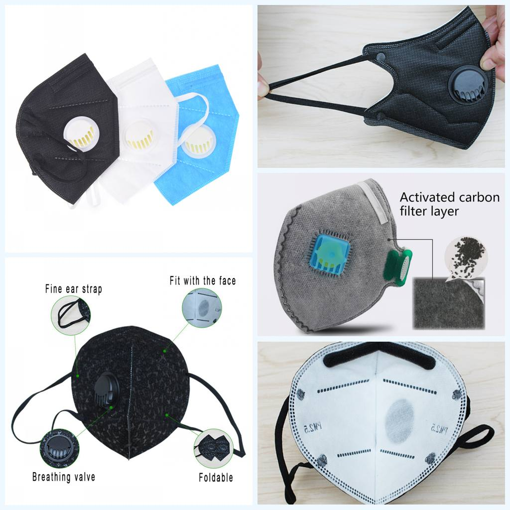1PC Respiratory Dust Mask Upgraded Version Anti-fog Dust Pm2.5 Pollen 3D Cropped Breathable With Mask For Men Women