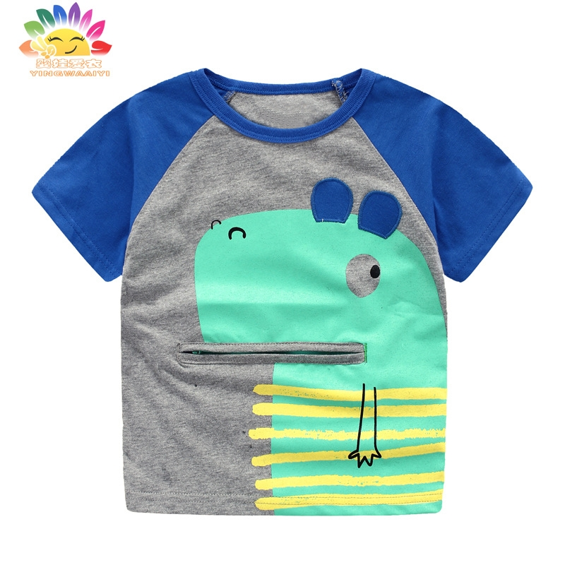Yingwaaiyi boys tees character children top t shirt kids summer boys fashion shirt child boy summer