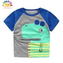 Yingwaaiyi garçons t-shirts caractère enfants top t shirt enfants d'été garçons mode chemise enfant garçon d'été vêtements pour enfants designer