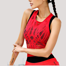 Sexy Mesh Hollow Out Yoga Top Sleeveless Sexy Sport T Shirt Quick Dry Fitness Clothing Sports Gym Running Shirts tee