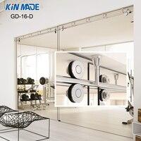 Изготовлено Kin потолочная Раздвижная стеклянная раздвижная дверь полный комплект оборудования