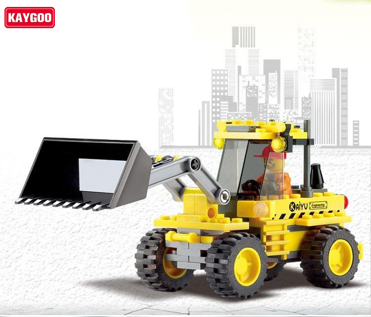 Kaygoo bulldozer car Hot Learning City Series Building Block Sets DIY Educational Children Toys Christmas Gift hot sale 1000g dynamic amazing diy educational toys no mess indoor magic play sand children toys mars space sand