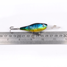 1PC Crank Fishing Lure 2 Sections Bass Baits 9cm-3.54″/10.55g-0.37oz with #6 Hooks Fishing Tackle DHC003