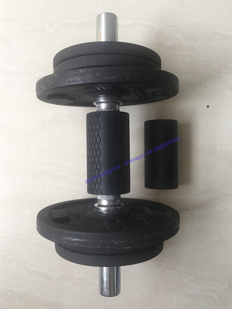 rifull small size Grips 2.0 - Extreme Arm Blaster - Best Dumbbell and Barbell Thick Bar Adapter black