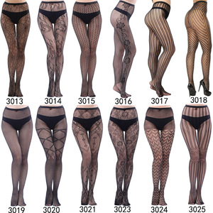 luckymily Sexy Women's Underwear Lace Stockings Transparent Black Fishnet Stockings Thigh Sheer Tights Embroidery Pantyhos