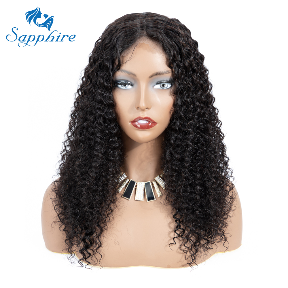 Sapphire Brazilian Lace Front Human Hair Wigs For Black Women Pre Plucked Bleached Knots Curly Wig With Baby Hair Lace Front Wig-in Human Hair Lace Wigs from Hair Extensions & Wigs    3
