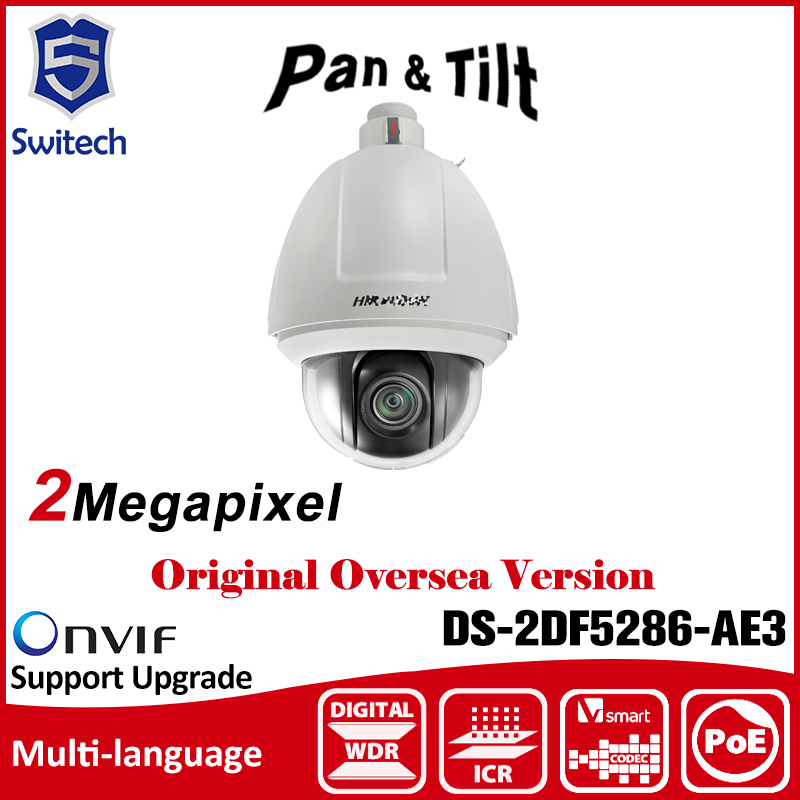 HIKVISION  DS-2DF5286-AE3 (indoor) PTZ Camera 1080P 2MP Network PTZ Dome Camera Speed Dome Camera Smart Tracking True Day/Night hikvision ds 2ae7152 a 540tvl analog 3 84mm 88 32mm 23x zoom smart ptz camera infrared waterproof day night indoor outdoor