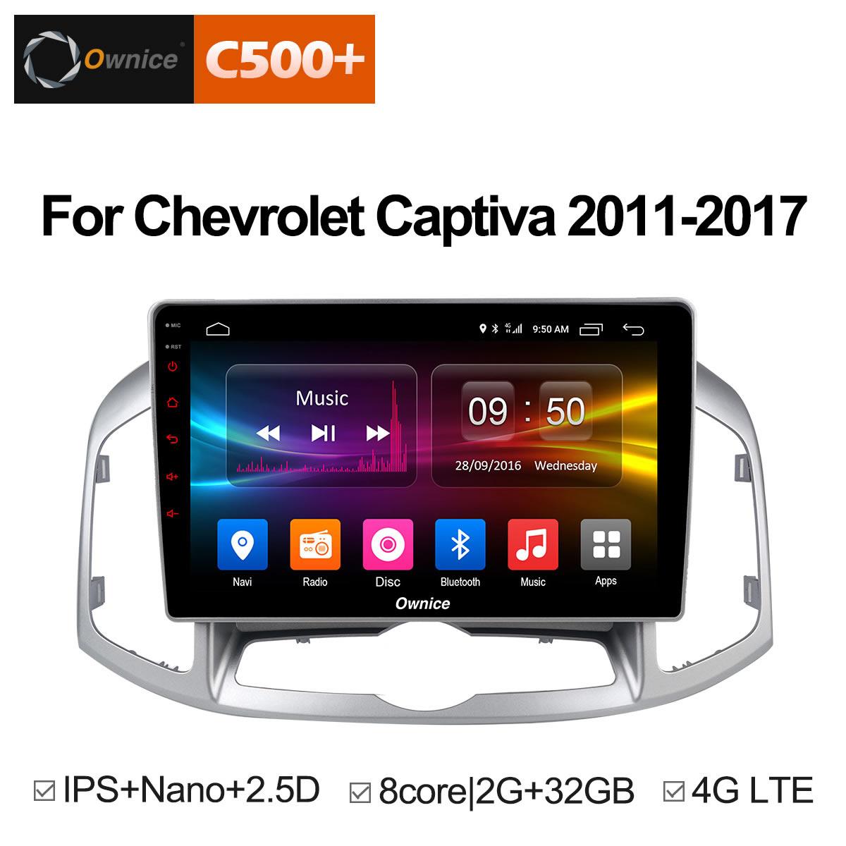 Ownice C500 + G10 Android 8.1 8 Core Voiture DVD Stéréo Pour Chevrolet Captiva 2011-2017 Auto Radio GPS navigation Multimédia Audio