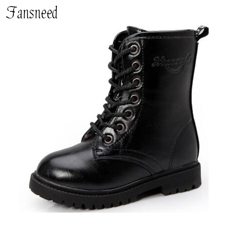 2017 Children shoes girls fashion boots children boots autumn and winter child boys single martin boots