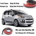 Para Citroen C3/C3 Picasso/Car Bumper Lip/inferior Body Kit/Front/Rear Spoiler Saia/Bumper Defletor de Borracha tira