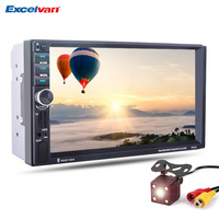 7 HD 2 Din Touch Screen Bluetooth2 0 Steering Wheel Control Car MP5 Player GPS Navigation