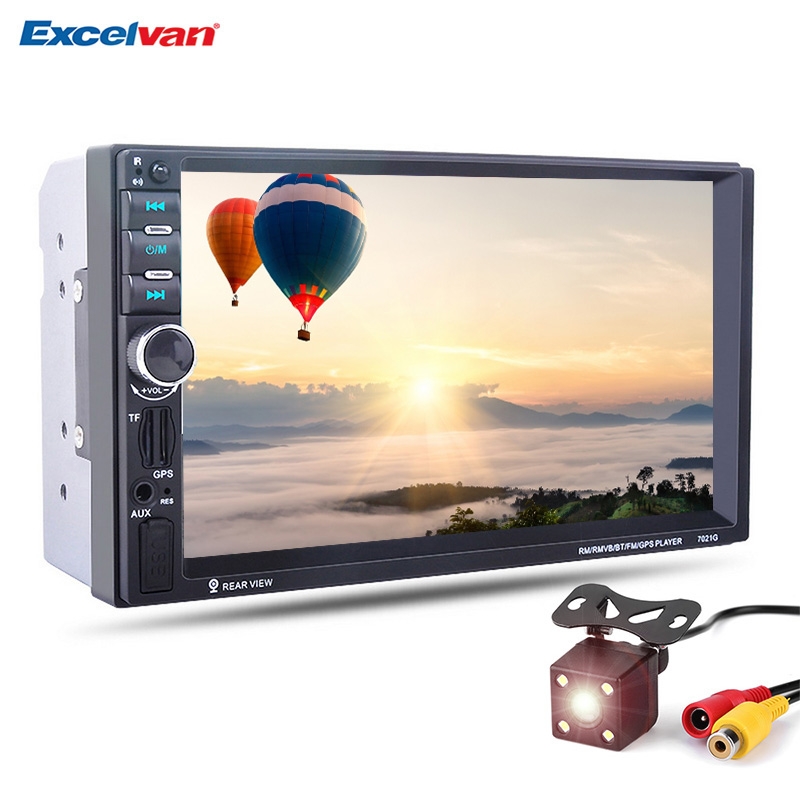7021G 7inch HD 2Din Touch Screen Bluetooth2 0 Mirror Link font b Car b font MP5