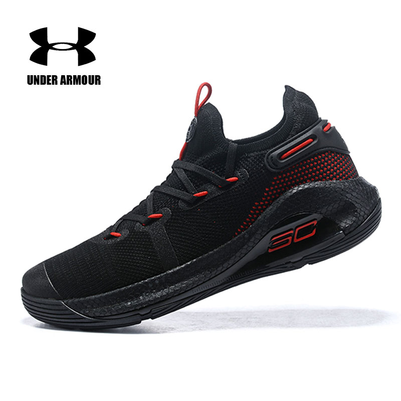fba93a7d8b2c Under Armour Curry 6 Basketball Shoes Men Sneakers zapatos hombre Black  Oakland Sideshow Fox Theater WOE Man Sport shoes 40-46