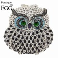 Sparkling Owl Bridal Wedding Crystal Clutches Purses Women Party Evening Clutch Bags Diamond Metal Handbags Bolsos de Noche