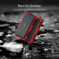 2.5 Inch Mobile Hard Disk Box Silicone Waterproof Shockproof Protection Box For SSD Enclosure SATA To USB3.0 Hard Drive Case