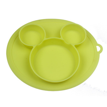 Baby silicone plate Kids Bowl Plates baby feeding silicone bowl baby silica gel dishes kids tableware 1