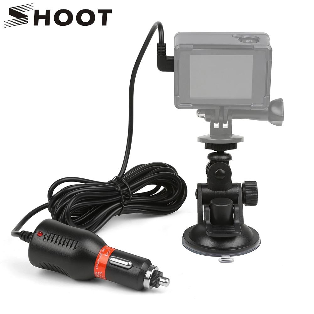 For SJCAM camera Suction Cup Bracket Sucker Holder Mount  + Car Charger For SJ4000 SJ5000 For Gopro