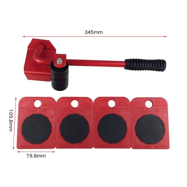 5pcs Furniture Transport Set Furniture Lifter U0026 Furniture Slides (Mover  Rollers) 4 Wheeled Corner