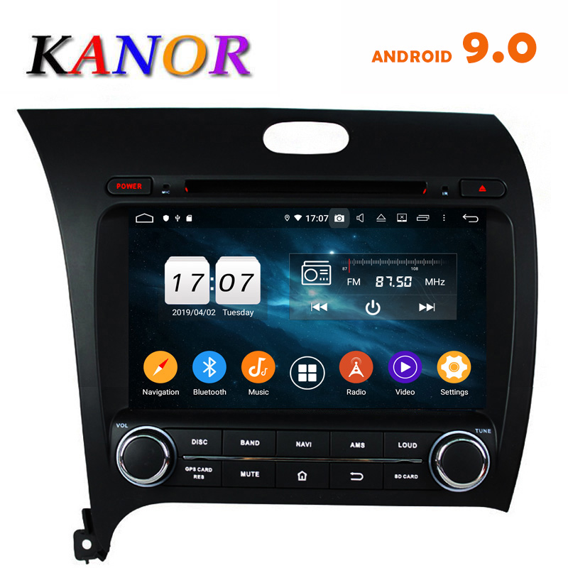 KANOR Android 8.0g IPS Octa Núcleo 4 + 32 2din Rádio Do Carro DVD Player De Vídeo Para KIA Cerato forte k3 2013 Com GPS de Navegação de Áudio
