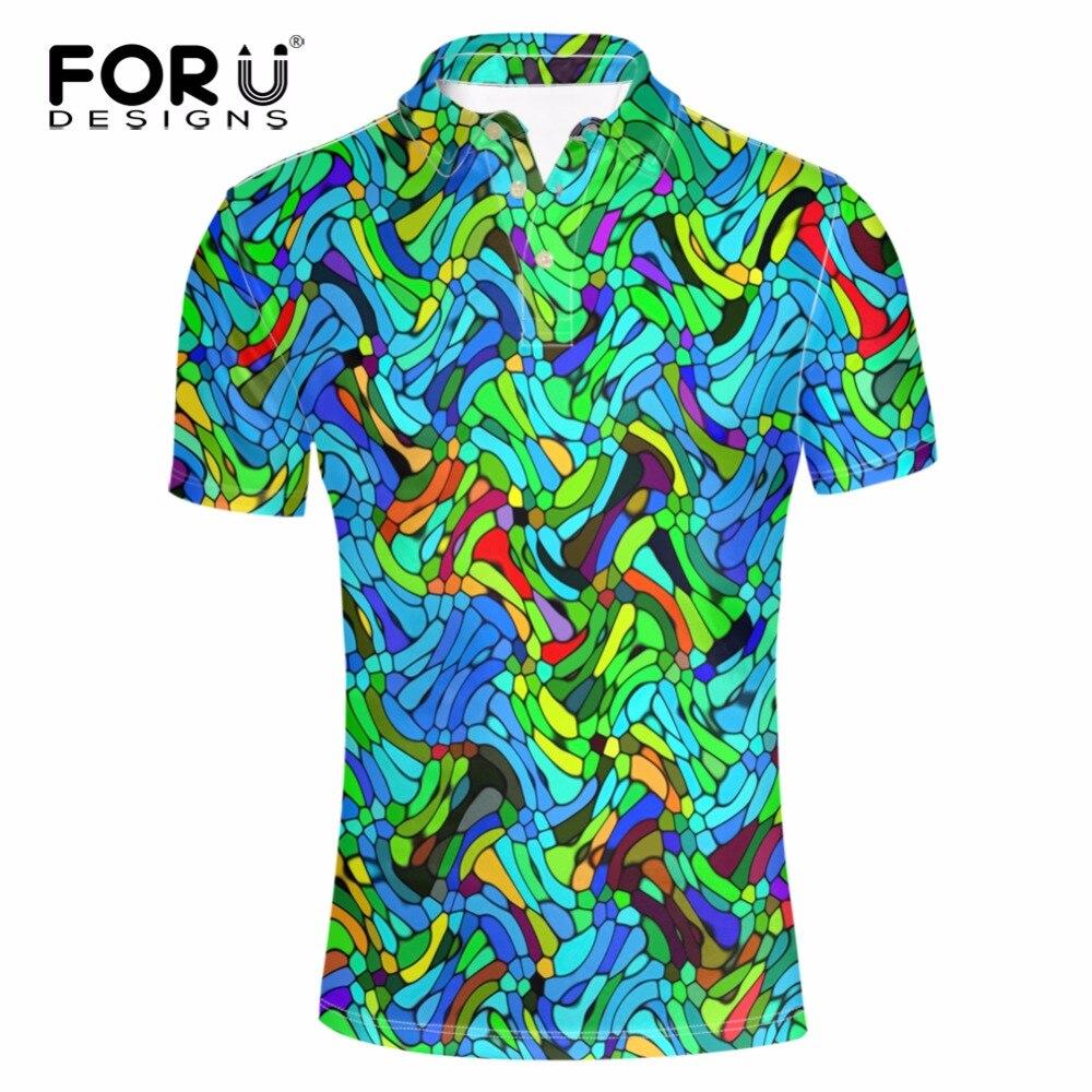 Forudesigns Для мужчин Гавайи рубашка для пляжного отдыха модные цветочные рубашки тропический Приморский рубашка Марка Camisas Поло для летнего от