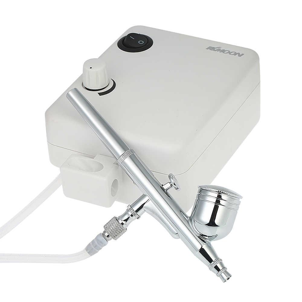 Profissional mini dupla ação pistola airbrush compressor de ar conjunto gravidade alimentação kit escova de ar para tatuagem manicure artesanato bolo