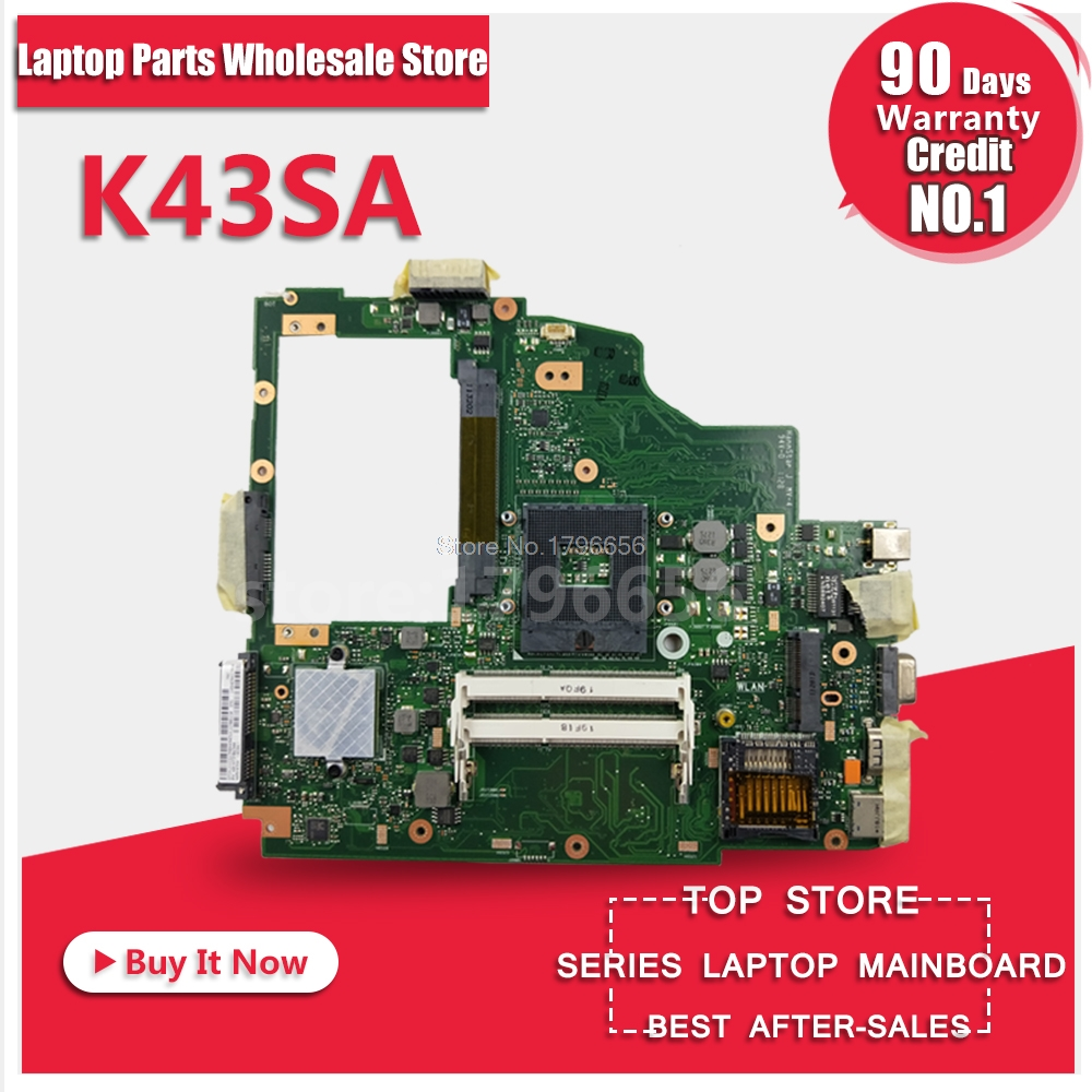 For ASUS A43S X43S K43S A43SA K43SA HM65 Laptop Motherboard System Board Main Board Card Logic Board Tested Well Free Shipping original for asus vx6s rev2 0 laptop motherboard system board main board card logic board tested well free shipping