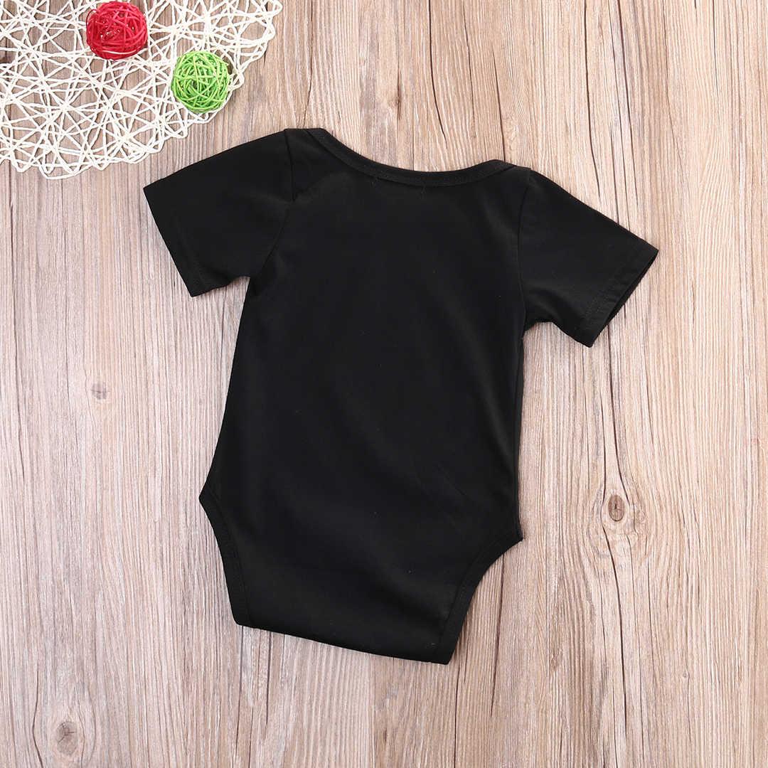 Новинка 2017 года; Летний комбинезон с короткими рукавами для новорожденных мальчиков и девочек; комбинезон; одежда для сарафана; Цвет черный, красный